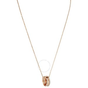 Swarovski玫瑰金水晶项链
