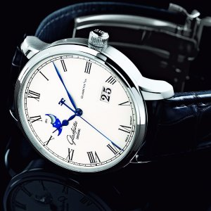 $5988 Glashutte Men's Senator Panorama Date Moonphase Watch 100-04-32-12-04