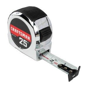 $4.28CRAFTSMAN Tape Measure, Chrome Classic, 25-Foot