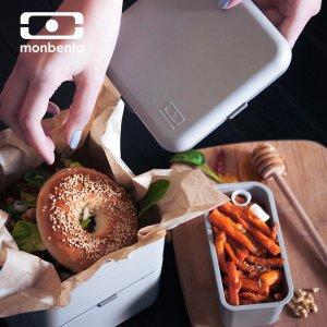 史低价:monbento 网红双层方形便当盒 午餐盒 大号