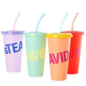 DAVIDsTEA变色冷杯4件套