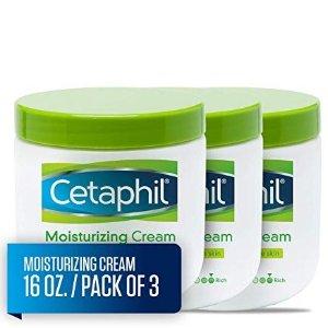 $26.47 便宜大碗Cetaphil 深层保湿润肤霜 超大瓶453g,3瓶装 针对干性和敏感型肌肤设计