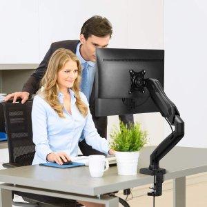 $28.99(原价$45.99)Huanuo 显示器旋臂支架 承托17-27英寸显示器