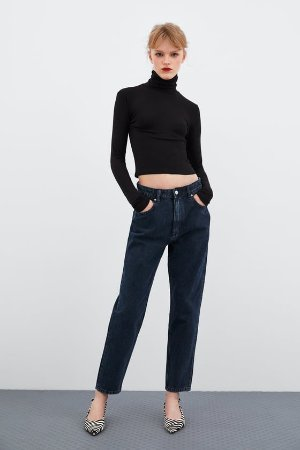 MOCK NECK TOP - Long Sleeve-T-SHIRTS-TRF | ZARA United States