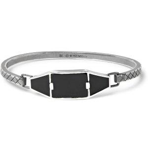 Bottega Veneta - Oxidised Sterling Silver, Enamel and Onyx Bracelet