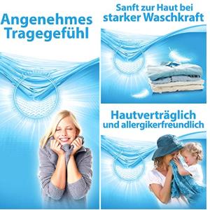 杏仁牛奶和天然香皂的亲肤洗涤,特别适合洗涤婴儿和儿童的衣物