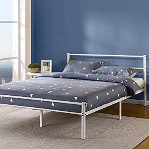 $76.47Zinus 12 Inch White Metal Platform Bed Frame with Headboard and Footboard, Full