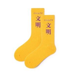 袜子中筒袜学院风国潮街头文字运动棒球滑板创意长筒情侣棉袜子