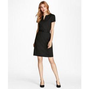 Stretch Wool Sheath Dress - Brooks Brothers