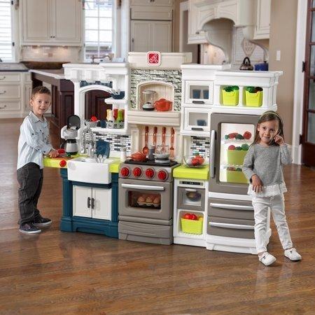 儿童大型厨房玩具,带78个配件