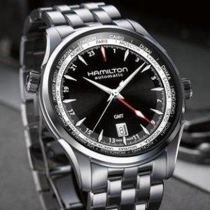 $599 (原价$1325)+免税独家:汉米尔顿爵士大师 GMT 系列机械商务男表