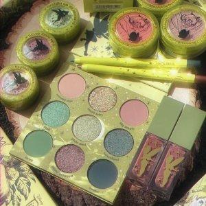 已发售 $9起ColourPop x Tinkerbell 彼得潘家小精灵 仙气绿 BlingBling超闪