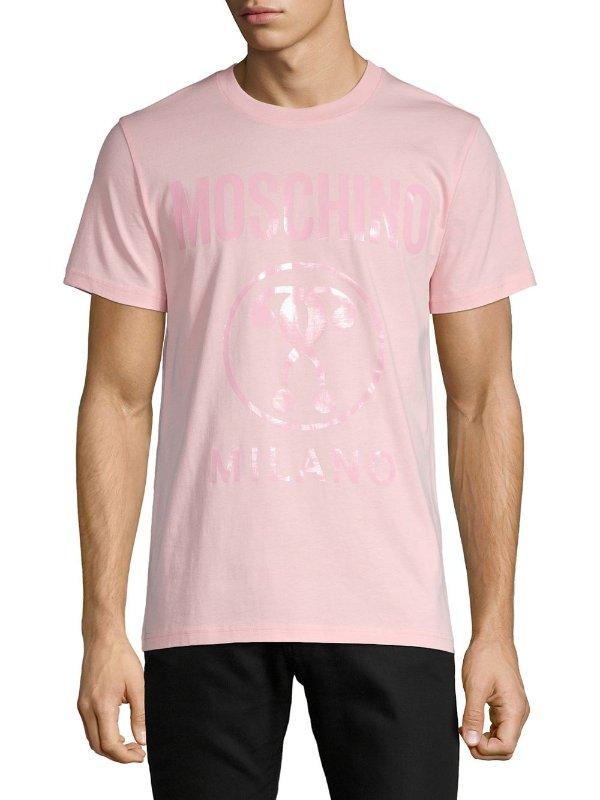- Logo-Print 粉色T恤
