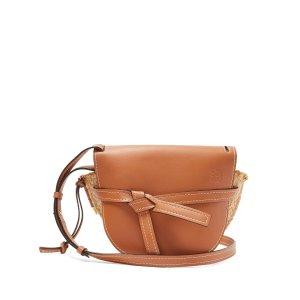 LoeweGate leather and raffia cross-body bag | Loewe | MATCHESFASHION.COM US