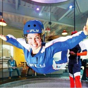 6.7折 £67体验室内双人跳伞iFLY 双人室内跳伞体验 游玩票超值优惠 你这辈子还没飞过吧!