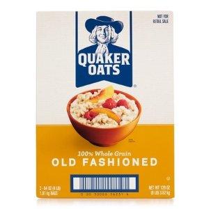 现价$51.18(原价$63.98)Quaker 全麦燕麦 8lb + USPS Forever 邮票100个