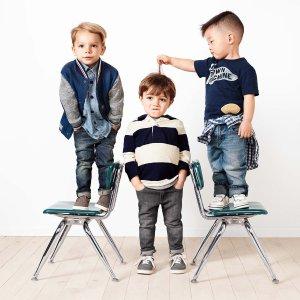 低至4折+额外6折Gap 儿童服饰季末特卖享折上折 收美美童衣