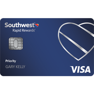 Earn up to 60,000 points.Southwest Rapid Rewards® Priority Credit Card