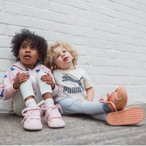5折起+额外7折 香芋紫短袖$11PUMA 特价区潮童鞋服 娇小妹纸入大童款 麂皮板鞋$20收
