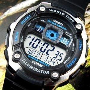 $43.96(原价$50)Casio 男士 AE2000W-1AV 200米防水运动手表