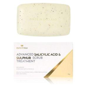仅€7.99 让肌肤恢复健康Revitale 网红水杨酸硫磺皂热促 磨砂祛痘 夏日前拥有美背