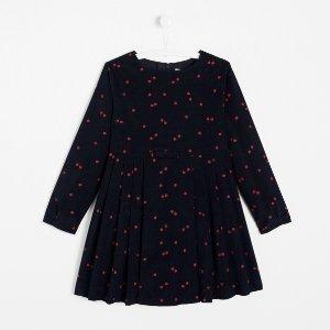 JacadiGirl ladybug print corduroy dress