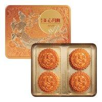 【预售】香港美心 双黄白莲蓉月饼 4枚入 740g 预计8月中下旬发货