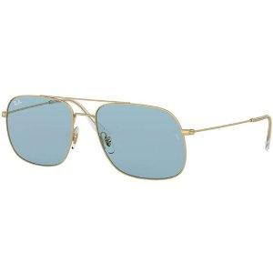 Ray-BanAndrea Rubber Coated Metal Navigator Sunglasses - Eyedictive