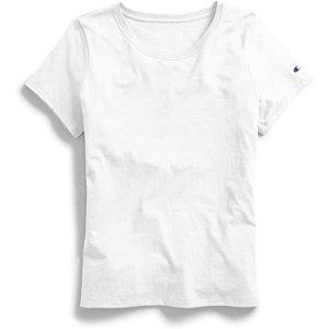 Champion女款白色T恤
