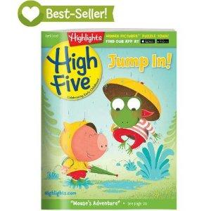 Highlights2-6岁High Five杂志3本