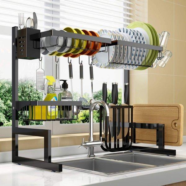 LONOVE 可调节宽度大容量厨房滤水架