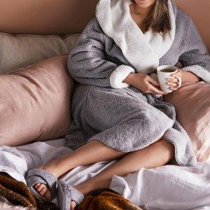 5折起+会员额外9.5折Adairs 澳洲国民家居品牌 优质睡衣、浴袍系列