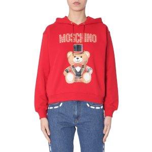 Moschino小熊连帽衫