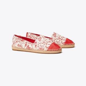 Tory Burch红色渔夫鞋