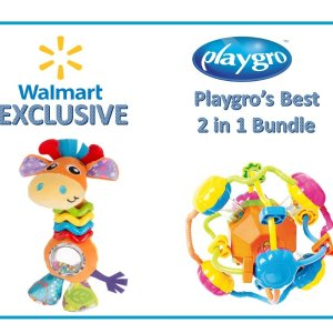 $6,74(Was $23.99)Playgro's Best Set, 2-in-1 Baby Toy Bundle with My Bead Buddy Giraffe and Discovery Ball