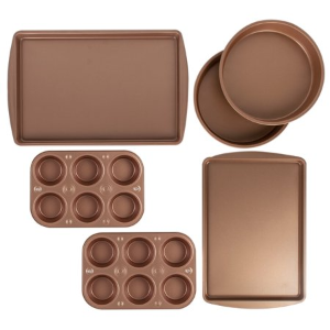 BakerEze 6 Pc Copper Nonstick Bakeware Set