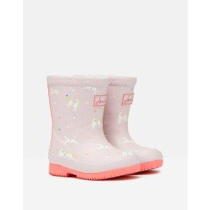 Joules儿童小马图案保暖雨靴