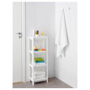 Ikea白色浴室收纳架