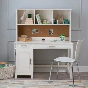 Classic Playtime Bennington Desk with Optional Hutch and Bookcase - Vanilla