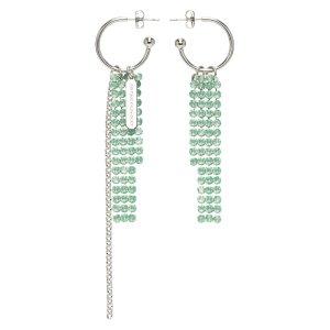 Justine Clenquet封面同系列River 新款绿色耳环