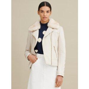 Wilsons LeatherAsymmetric Laced Faux-Leather Jacket