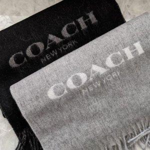 3折起+额外8折 退货延长至1.17闪购:Coach Outlet 羊毛披肩上新抢!老花围巾$42起