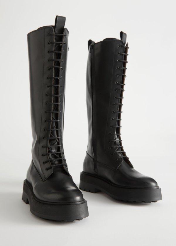 爆款骑士厚底靴