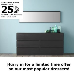 Up to 25% OffALL MALM & KULLEN Dresses Sale @ Ikea