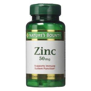 $2.88 包邮白菜价:Nature's Bounty 补锌保健品 增强免疫系统健康