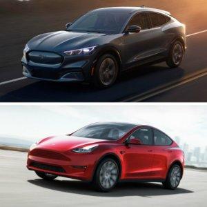 Ford V Tesla未来之战 福特野马Mach-E 对比 特斯拉Model Y