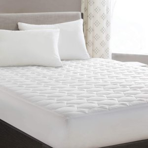 """as low as $11.99HYLEORY Queen Mattress Pad Cover Stretches up 8-21"""" Deep Pocket Ultra Soft Quilted Fitted Cooling Breathable Fluffy Soft Mattress Pad"""