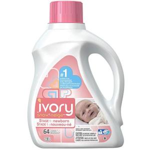 $13.97(原价$19.97)儿科医生推荐产品Ivory第一阶段新生儿洗衣液 2.95 L (64 Loads)
