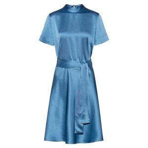 Hugo BossSlim-fit A-line dress in lustrous crepe georgette