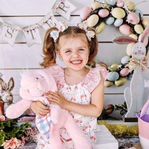 低至$9.99 两种尺寸Plushible 复活节毛绒兔兔热卖 温暖好抱